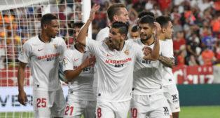 Nolito celebra su gol a la Real Sociedad