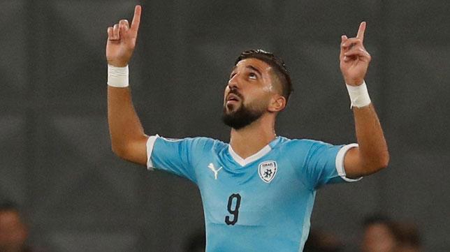 Dabbur celebra uno de sus goles con Israel (EFE)