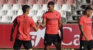Diego Carlos, en un entrenamiento (Manu Gómez)
