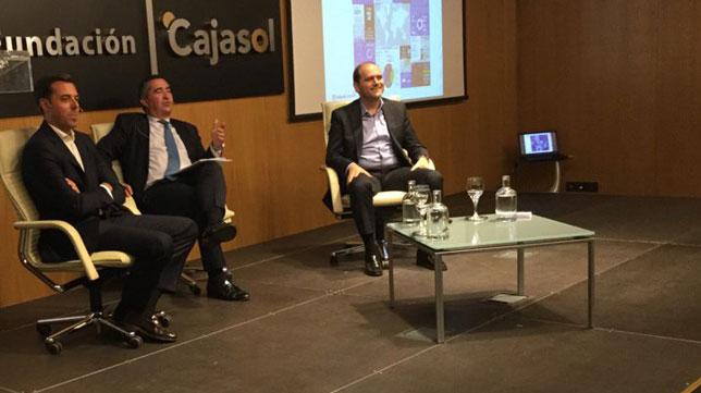 Jesús Iglesias, García Cabello y Anselmo Presencio