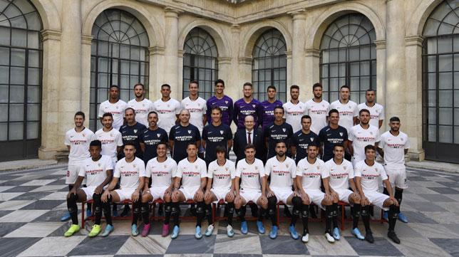 Foto oficial del Sevilla 2019-20