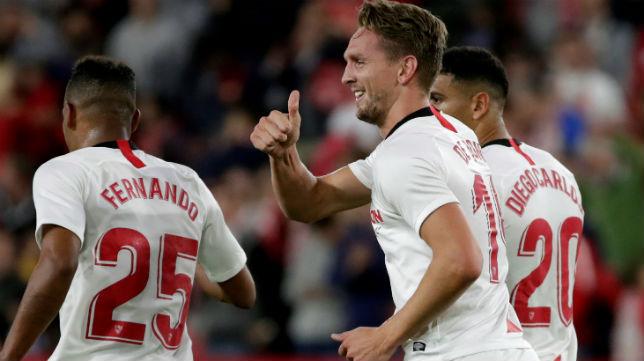 De Jong celebra su gol ante el Levante