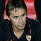 Julen Lopetegui, en el banquillo del estadio Ramón Sánchez-Pizjuán (Foto: Sevilla FC)
