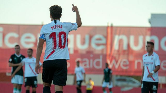 Pepe Mena, durante el partido ante el Córdoba CF (Foto: Sevilla FC)