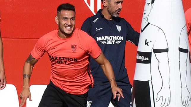 Rony Lopes, en un entrenamiento (J. J. Úbeda)