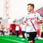 Javi Vázquez, durnate un partido del Sevilla Atlético (Foto: SFC)