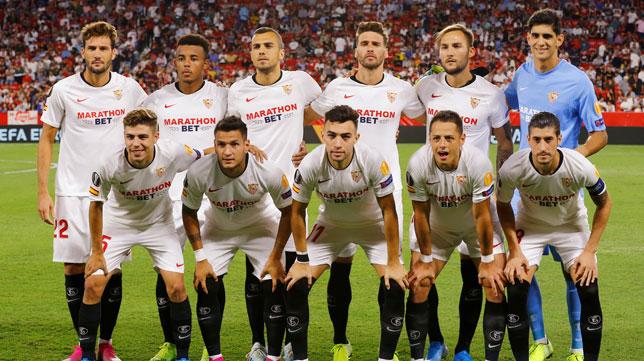 El once del Sevilla ante el Apoel en el Sánchez-Pizjuán (Foto: Reuters).