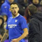 Ocampos, tras ser expulsado en el Valladolid-Sevilla FC (Foto: LaLiga)