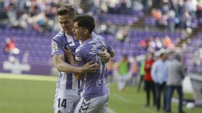 Toni Villa celebra un gol con el Valladolid (Foto: El Norte de Castilla)