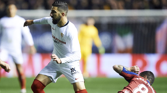 Dabbur, durante el Osasuna-Sevilla (Foto: Serrano Arce/ABC)