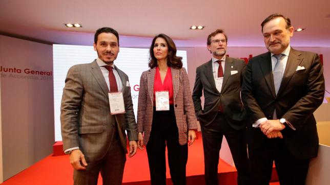 Rafael Carrión, junto a Carolina Alés, José María del Nido Carrasco y Alberto Pérez Solano
