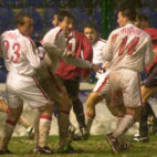 Imagen del partido de la eliminatoria de la Copa del Rey de 2003 entre Osasuna y Sevilla