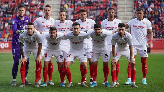 El once inicial del Sevilla para medirse al Mallorca en Son Moix (Foto: Sevilla FC).