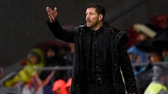 El técnico del Atlético, Diego Pablo Simeone (AFP)