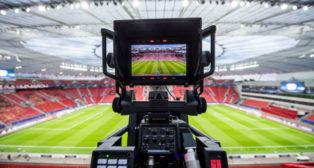 Cámara de TV en un estadio