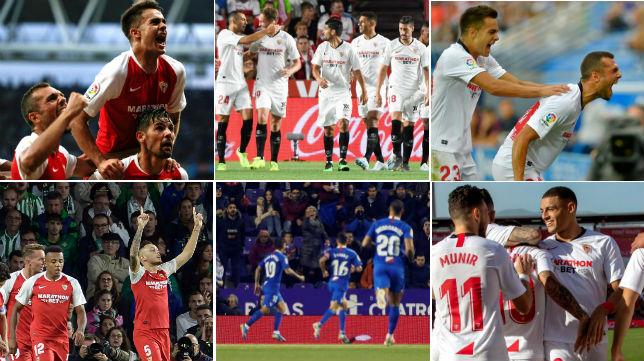 Espanyol, Granada, Alavés, Betis, Valladolid y Mallorca, los rivales a los que ha ganado el Sevilla FC como visitante