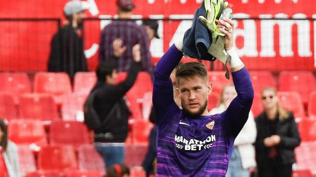 Vaclik celebra el triunfo ante el Leganés (Foto: Sevilla FC)