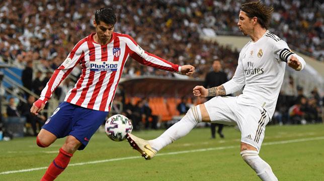 Sergio Ramos, en un lance de la final de la Supercopa de España ante el Atlético (E.P.)