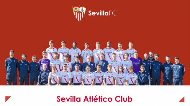 Plantilla del Sevilla Atlético 2019/2020 (Foto: Sevilla FC)
