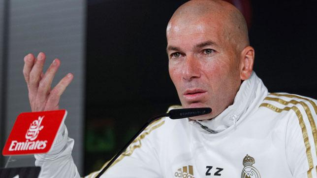 Zinedine Zidane, entrenador del Real Madrid (Foto: EFE).
