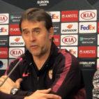Julen Lopetegui, durante la rueda de prensa previa al Cluj-Sevilla de la Liga Europa.