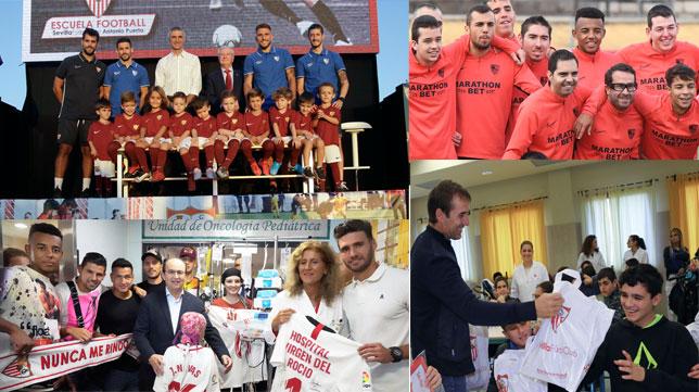 Varias de las actividades en las que participa la Fundación del Sevilla FC