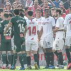 Momento de la polémica en el Sevilla FC - Espanyol. Foto: Sevilla FC