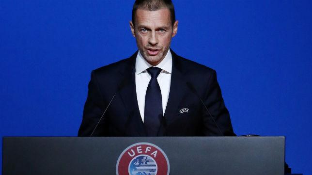 El presidente de la UEFA, Ceferin