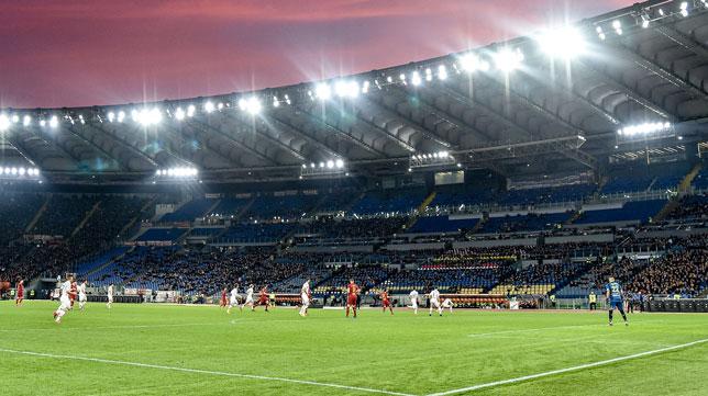Encuentro disputado entre la AS Roma y el Lecce en el Estadio Olímpico en febrero de 2020 (Foto: Sportphoto24)