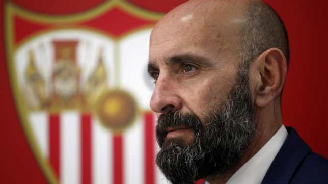 Monchi, en las instalaciones de la ciudad deportiva Cisneros Palacios durante una entrevista con ABC de Sevilla (Foto: Manu Gómez)