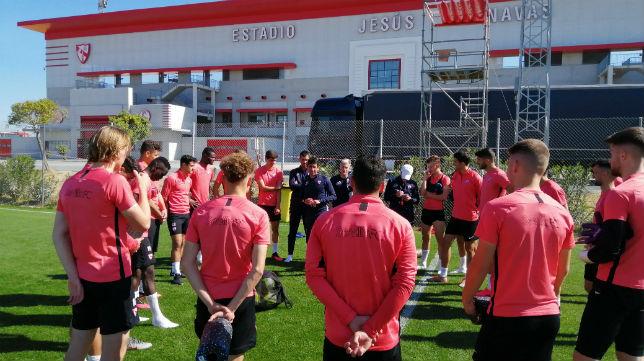 El Sevilla Atlético, en un entrenamiento esta temporada (Foto: Sevilla FC)