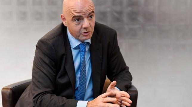 Infantino es presidente de la FIFA desde 2016