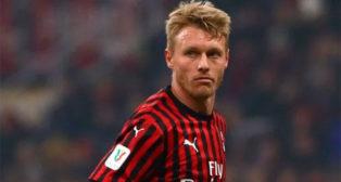 Kjaer, en un partido con el Milan (AC Milan)