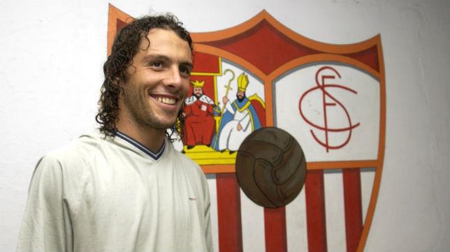 Podestá, en su etapa como jugador del Sevilla (Foto: Millán Herce)