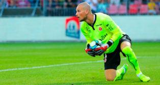 El portero del Stade de Reims, Pedrag Rajkovic