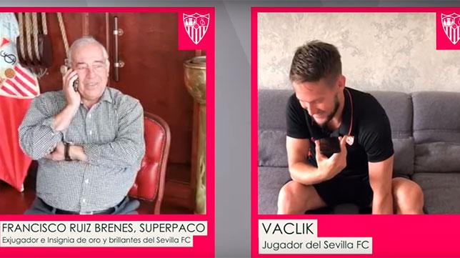 Superpaco y Vaclik hablaron dentro de la campaña 'Cuídame' del Sevilla FC