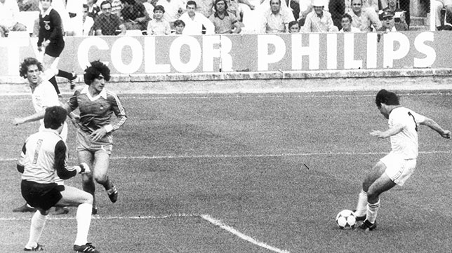 Bertoni marca el 2-1 del Sevilla a la Real Sociedad en aquel duelo de 1980
