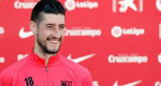 El lateral del Sevilla FC Sergio Escudero