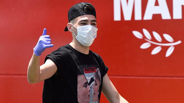 Munir llega a la ciudad deportiva para pasar el test del coronavirus (SFC)