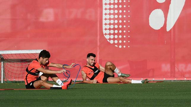 Munir y Mena se ejercitam separados en la ciudad deportiva del Sevilla FC (SFC)