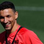 Jesús Navas, en el entrenamiento del Sevilla FC (LaLiga)