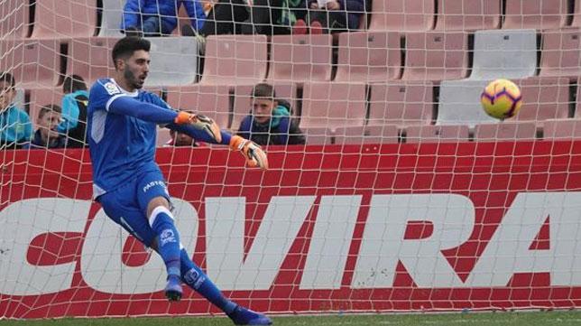 Rui Silva, durante un partido con el Granada (Foto: Ideal).