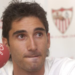 Sevilla FC: El portero David Cobeño