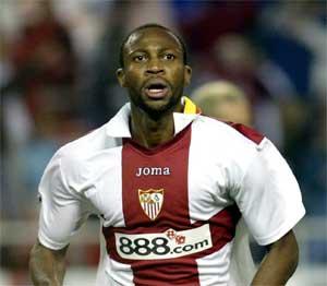Sevilla FC: Keita celebra su gol al Arsenal