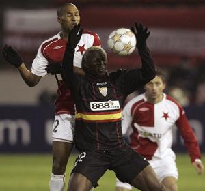 Sevilla FC: Koné durante el partido de anoche