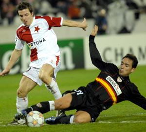 Sevilla FC: Lolo, durante el partido de anoche
