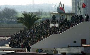 Sevilla FC: Imagen de archivo de la grada de la ciudad deportiva sevillista