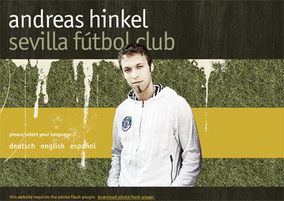 Sevilla FC: La web personal de Hinkel aún no ha cambiado la portada con el nombre del club sevillista