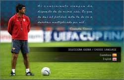 Sevilla FC: Portada de la web de Juande Ramos. Pincha aquí para visitarla