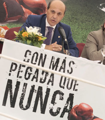 Sevilla FC: Del Nido durante la presentación de la campaña
